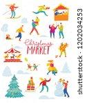 vector christmas winter card... | Shutterstock .eps vector #1202034253