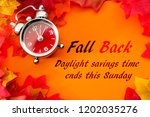 fall back  the end of daylight... | Shutterstock . vector #1202035276