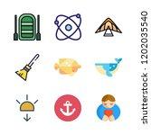 coast icon set. vector set...   Shutterstock .eps vector #1202035540