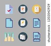 bureaucracy icon set. vector... | Shutterstock .eps vector #1202042929