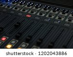 the radio mixer on air channel   Shutterstock . vector #1202043886
