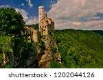 lichtenstein castle  located in ... | Shutterstock . vector #1202044126