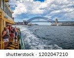 view of sydney harbour bridge... | Shutterstock . vector #1202047210