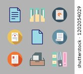 bureaucracy icon set. vector... | Shutterstock .eps vector #1202054029