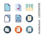 bureaucracy icon set. vector... | Shutterstock .eps vector #1202056930