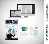 business magazine  brochure... | Shutterstock .eps vector #1202060383