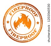 fireproof sign or stamp on... | Shutterstock .eps vector #1202060530