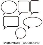 silhouette feedback vector... | Shutterstock .eps vector #1202064340