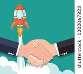 symbol of success deal shaking... | Shutterstock .eps vector #1202067823