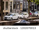 amsterdam holland  the old city ... | Shutterstock . vector #1202070013