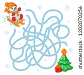 help cute snowman  find the... | Shutterstock .eps vector #1202070256