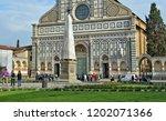tourists look at santa maria... | Shutterstock . vector #1202071366