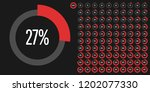 set of circle percentage... | Shutterstock .eps vector #1202077330