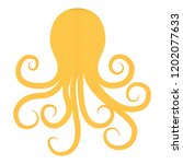 octopus silhouette in vintage... | Shutterstock .eps vector #1202077633