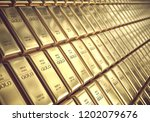 Stock photo  d illustration gold bars grams concept of success in business and finance 1202079676