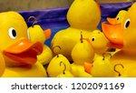 hook a duck fairground game   Shutterstock . vector #1202091169