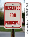 reserved for principal parking...   Shutterstock . vector #1202091769