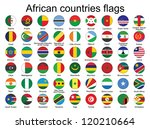 set of round buttons with flags ... | Shutterstock . vector #120210664