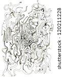 various people.hand drawn doodle | Shutterstock . vector #120211228