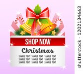 christmas shop theme with bell... | Shutterstock .eps vector #1202134663