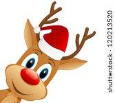 Reindeer And Santa Hat   Vector ...