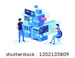 joint development of stepwise... | Shutterstock .eps vector #1202135809