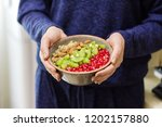 fitness and healthy lifestyle... | Shutterstock . vector #1202157880