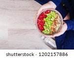 fitness and healthy lifestyle... | Shutterstock . vector #1202157886