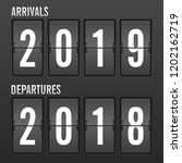 arrivals and departures year... | Shutterstock .eps vector #1202162719