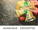 christmas decoration with red... | Shutterstock . vector #1202165716