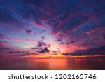beautiful sunset sky on sea... | Shutterstock . vector #1202165746