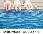 spa pool concept  group of... | Shutterstock . vector #1202165770