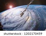 hurricane florence churned... | Shutterstock . vector #1202170459