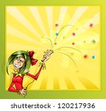 invitation card with the clown... | Shutterstock .eps vector #120217936