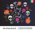 day of the dead  lettering text ... | Shutterstock .eps vector #1202192020