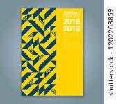 abstract minimal geometric... | Shutterstock .eps vector #1202208859