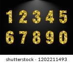 set copper numbers from 1 to 0... | Shutterstock .eps vector #1202211493