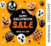 halloween sale banner  party... | Shutterstock .eps vector #1202211943