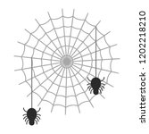 happy halloween spiders in... | Shutterstock .eps vector #1202218210