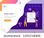 the development team designs... | Shutterstock .eps vector #1202218300