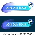 join our team flat design.... | Shutterstock .eps vector #1202220580