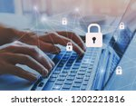 internet security and data... | Shutterstock . vector #1202221816