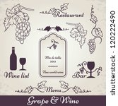 wine and grape decoration.... | Shutterstock .eps vector #120222490