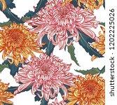 vector seamless floral pattern. ... | Shutterstock .eps vector #1202225026