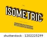 vector bold isometric alphabet... | Shutterstock .eps vector #1202225299