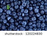 Blueberries As Background With...