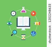 tutorial  e learning  distance...   Shutterstock .eps vector #1202248633