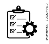project management icon. vector ... | Shutterstock .eps vector #1202249410