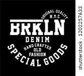 graphic brooklyn for shirt and... | Shutterstock .eps vector #1202257633