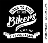 graphic bikers for shirt and... | Shutterstock .eps vector #1202257696